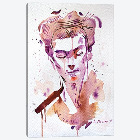 Frida Canvas Print #AME51} by Armando Mesias Canvas Art