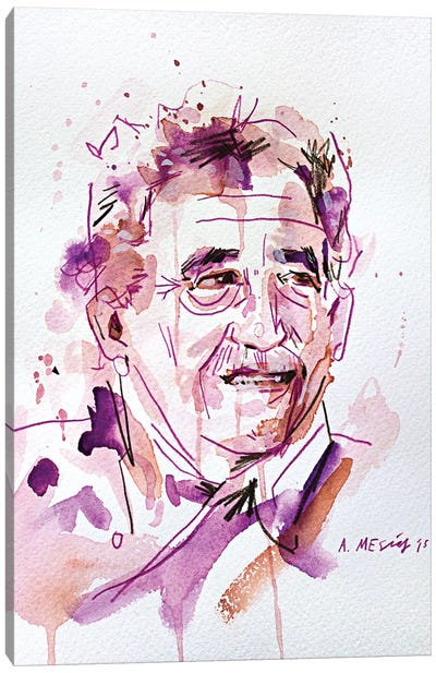 Gabo (Gabriel José de la Concordia García Márquez) Canvas Art Print