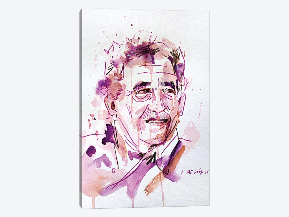 Gabo (Gabriel José de la Concordia García Márquez) by Armando Mesias 1-piece Canvas Wall Art