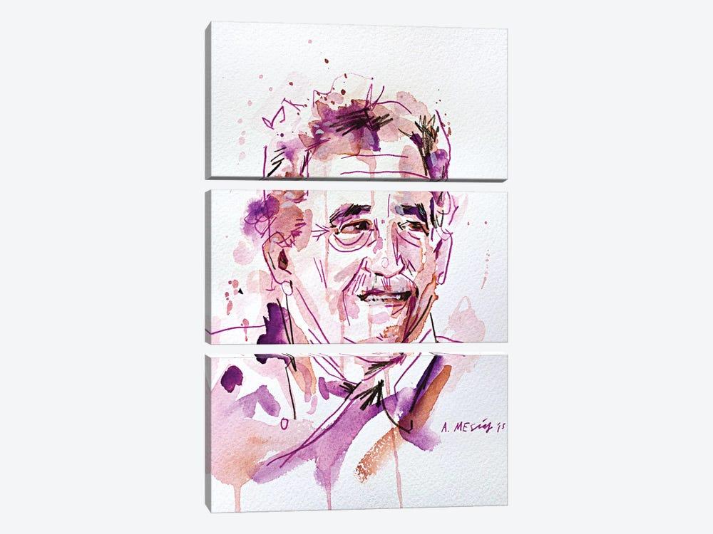Gabo (Gabriel José de la Concordia García Márquez) by Armando Mesias 3-piece Canvas Artwork