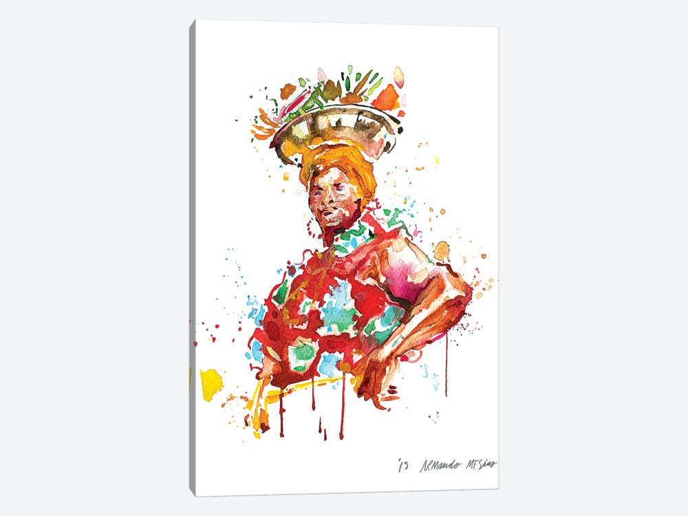 Palenquera by Armando Mesias 1-piece Canvas Art