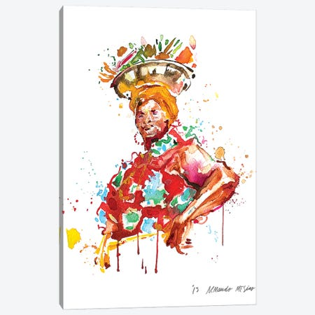 Palenquera Canvas Print #AME56} by Armando Mesias Canvas Art Print
