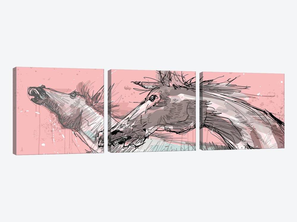Sementales by Armando Mesias 3-piece Canvas Art Print