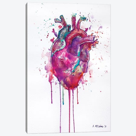 Tell Tale Heart Canvas Print #AME58} by Armando Mesias Canvas Wall Art