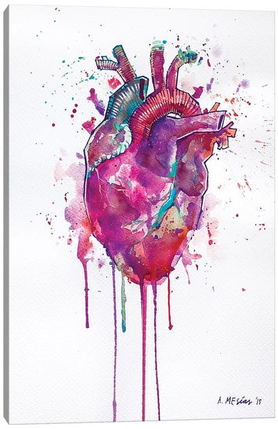 Tell Tale Heart Canvas Art Print