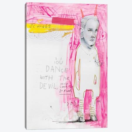 The Dancing Diablo Canvas Print #AME59} by Armando Mesias Canvas Art