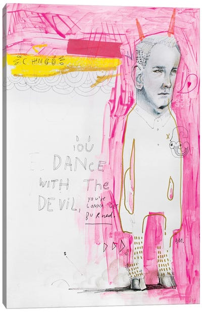 The Dancing Diablo Canvas Art Print