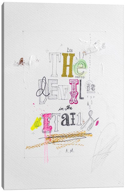 The Devil Is In The Details Canvas Art Print