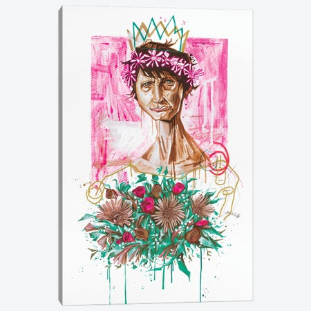 The Slum Queen Canvas Print #AME63} by Armando Mesias Art Print
