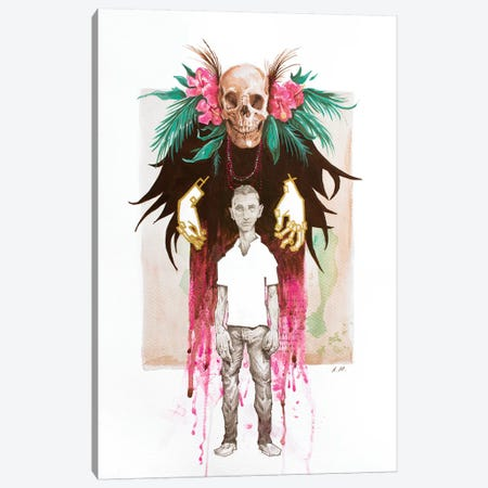 The Witch Doctor Canvas Print #AME65} by Armando Mesias Canvas Wall Art