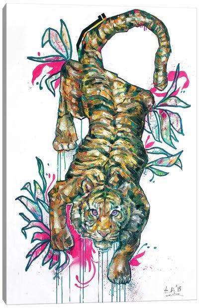 Botanical Tiger Canvas Art Print