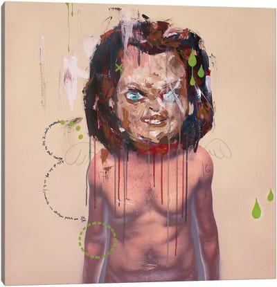 Chucky Mask Canvas Art Print