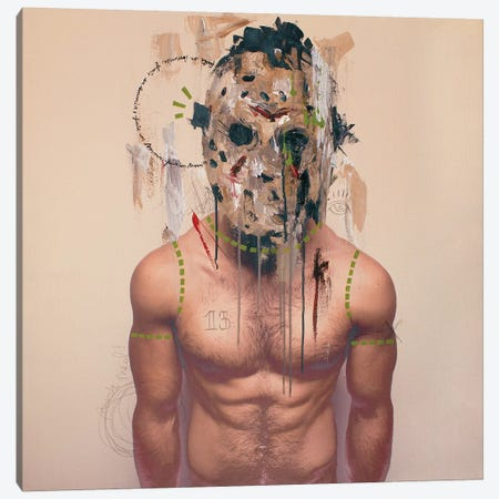 Jason Mask Canvas Print #AME75} by Armando Mesias Art Print