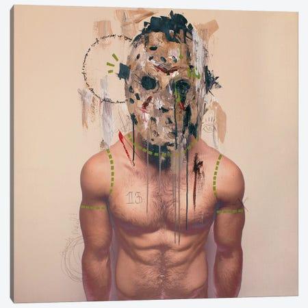 Jason Mask Canvas Print #AME75} by Armando Mesias Art Print