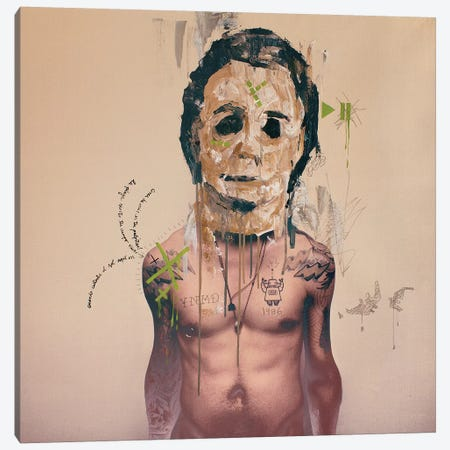 Michael Mask Canvas Print #AME78} by Armando Mesias Canvas Artwork