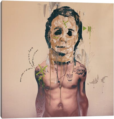 Michael Mask Canvas Art Print