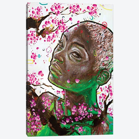 Sayori Canvas Print #AME79} by Armando Mesias Canvas Wall Art