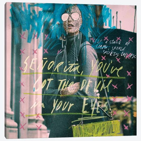 Senorita Canvas Print #AME80} by Armando Mesias Canvas Art Print