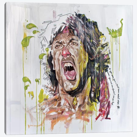 Stallone Canvas Print #AME9} by Armando Mesias Canvas Artwork