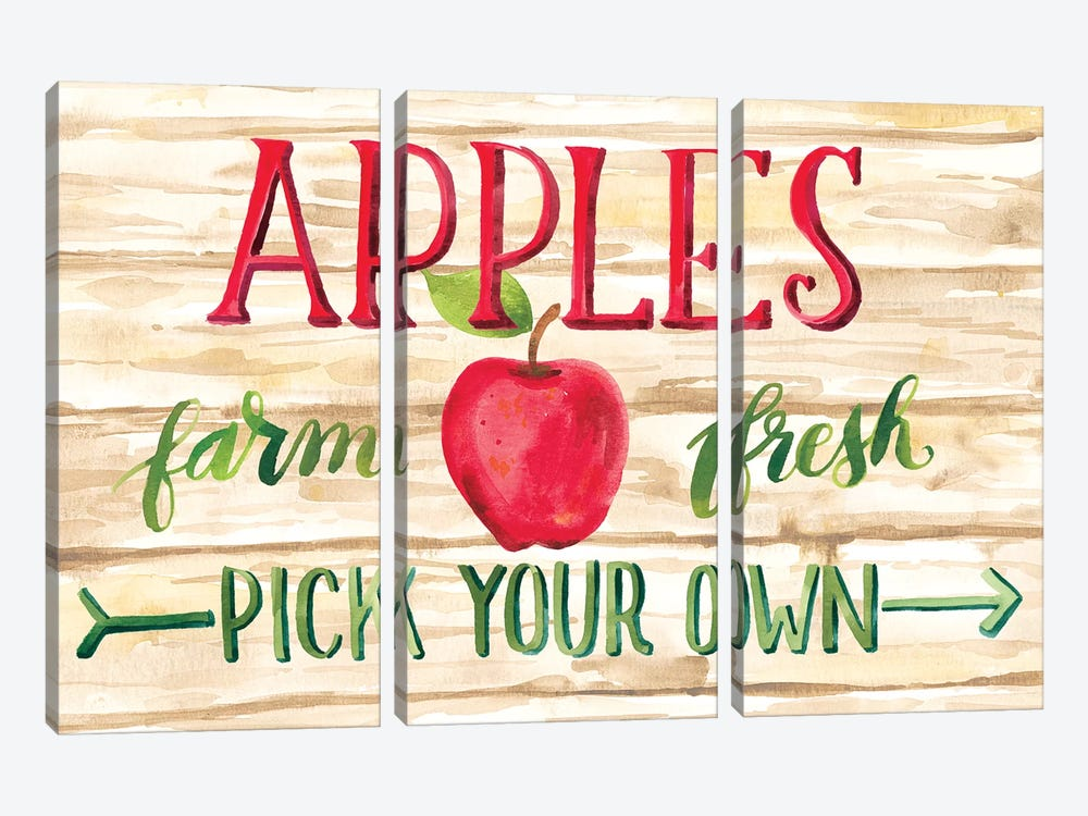 Apple Harvest I by Amanda Mcgee 3-piece Canvas Wall Art