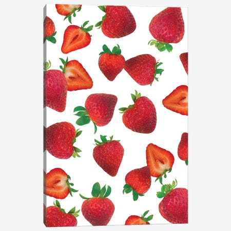Fresh Strawberries Canvas Print #AMG2} by Amanda Mcgee Canvas Wall Art