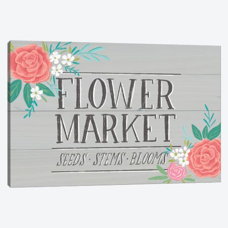 Flower Market IV Canvas Print #AMG38} by Amanda Mcgee Canvas Artwork