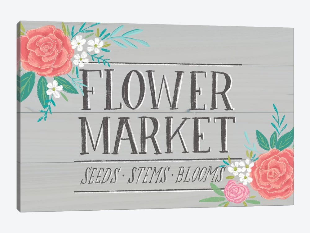Flower Market IV by Amanda Mcgee 1-piece Canvas Print