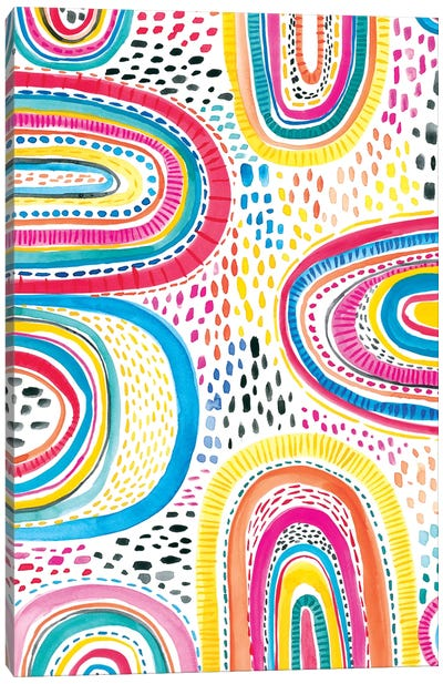 Colorfully Happy I Canvas Art Print