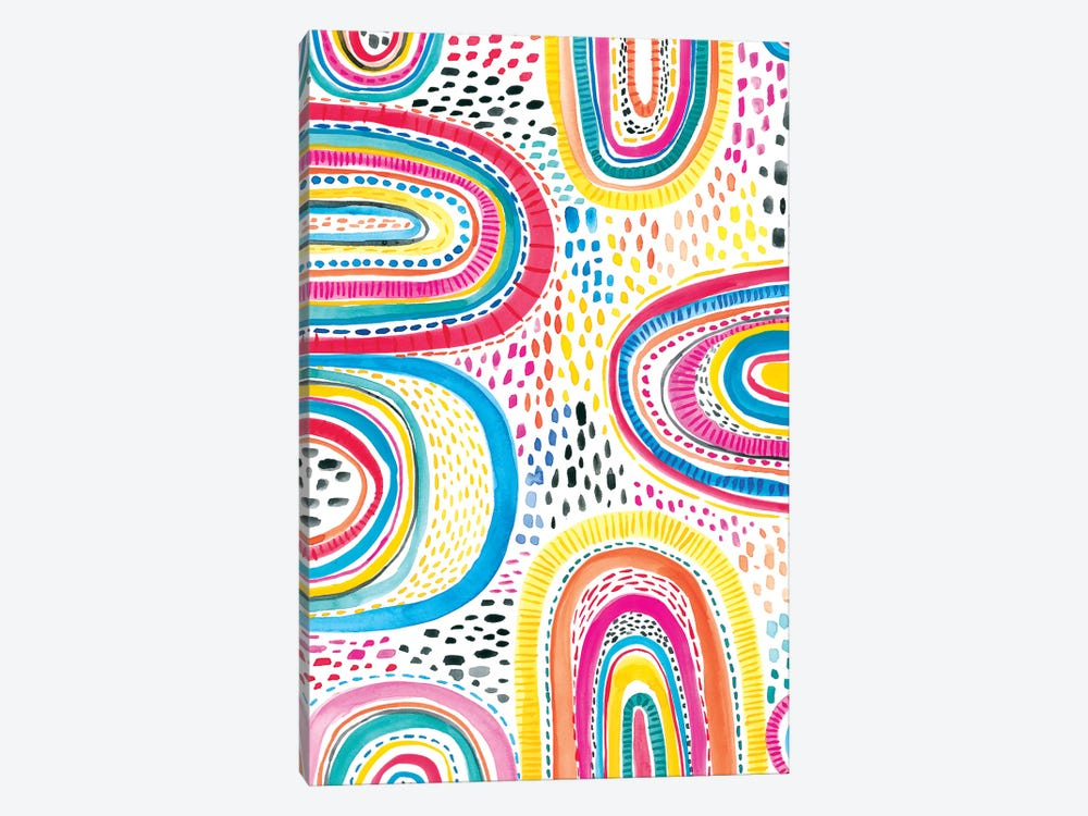 Colorfully Happy I by Amanda Mcgee 1-piece Canvas Artwork