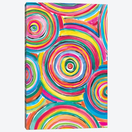 Colorfully Happy II Canvas Print #AMG49} by Amanda Mcgee Canvas Print