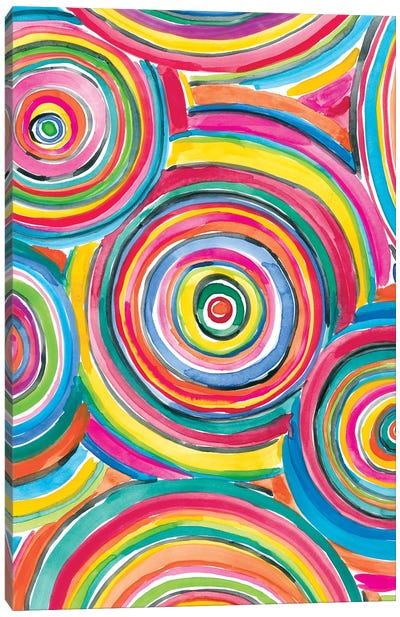 Colorfully Happy II Canvas Art Print