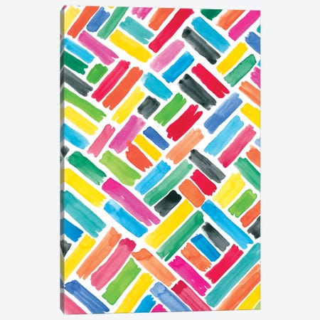Colorfully Happy III Canvas Print #AMG50} by Amanda Mcgee Canvas Art