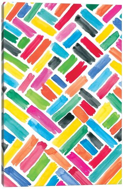 Colorfully Happy III Canvas Art Print