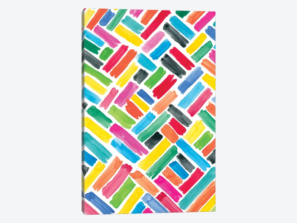 Colorfully Happy III by Amanda Mcgee 1-piece Canvas Print