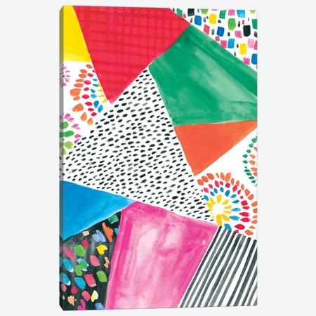 Colorfully Happy IV Canvas Print #AMG51} by Amanda Mcgee Canvas Wall Art