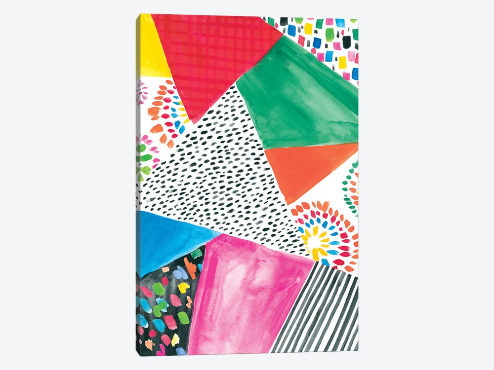 Colorfully Happy IV by Amanda Mcgee 1-piece Canvas Wall Art