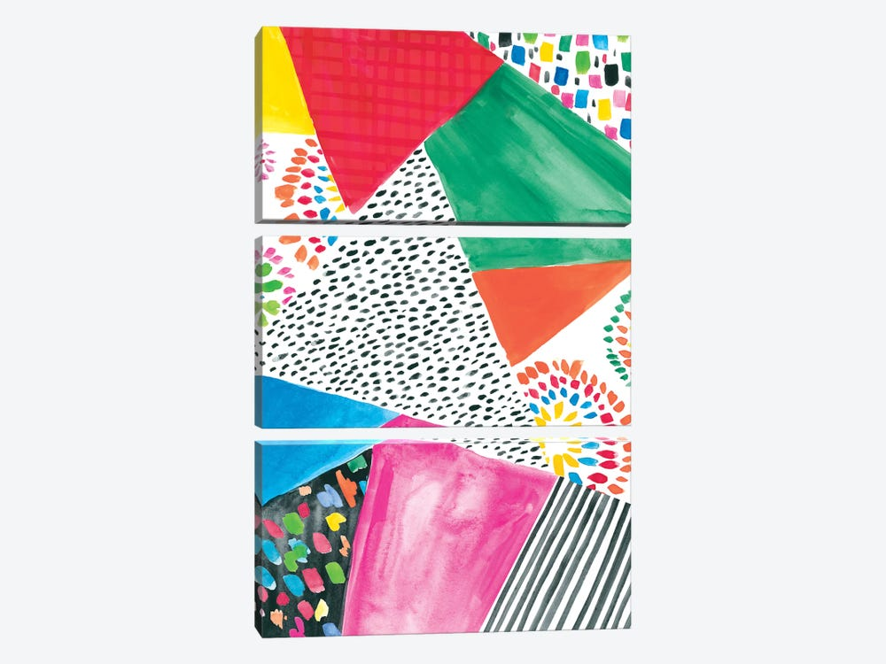 Colorfully Happy IV by Amanda Mcgee 3-piece Canvas Wall Art