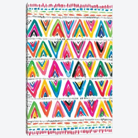 Colorfully Happy V Canvas Print #AMG52} by Amanda Mcgee Canvas Artwork
