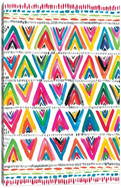 Colorfully Happy V Canvas Art Print