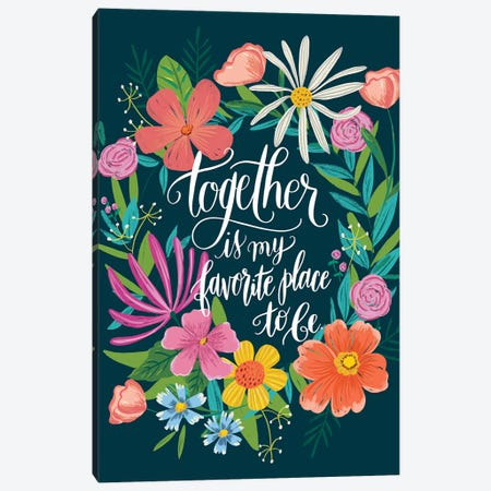 Floral Radiance I Canvas Print #AMG53} by Amanda Mcgee Canvas Artwork