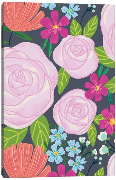 Floral Radiance IV Canvas Art Print