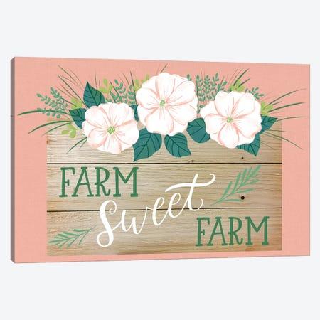 Farmhouse Flowers II Canvas Print #AMG58} by Amanda Mcgee Canvas Artwork