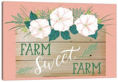 Farmhouse Flowers II Canvas Art Print