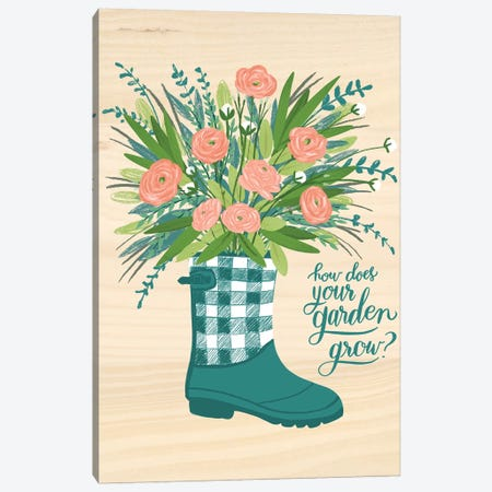 Farmhouse Flowers IV Canvas Print #AMG60} by Amanda Mcgee Art Print