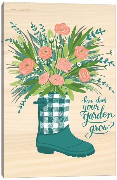 Farmhouse Flowers IV Canvas Art Print