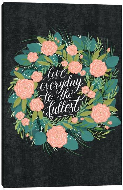 Farmhouse Flowers V Canvas Art Print