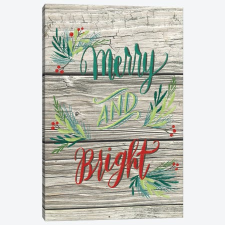 Christmas Greenery II 3-Piece Canvas #AMG67} by Amanda Mcgee Canvas Art