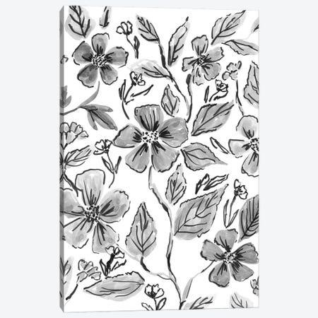 Ink Florals III Canvas Print #AMG92} by Amanda Mcgee Canvas Artwork