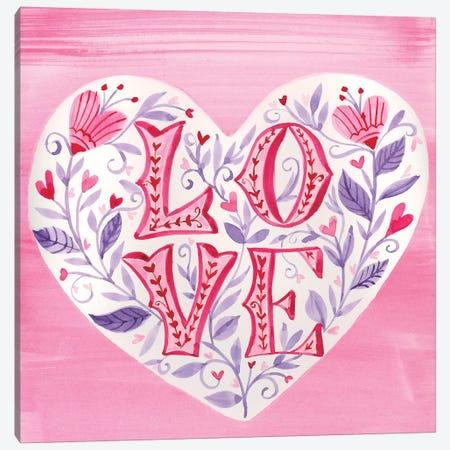 Hearts Flowers Canvas Print #AMG95} by Amanda Mcgee Canvas Art Print