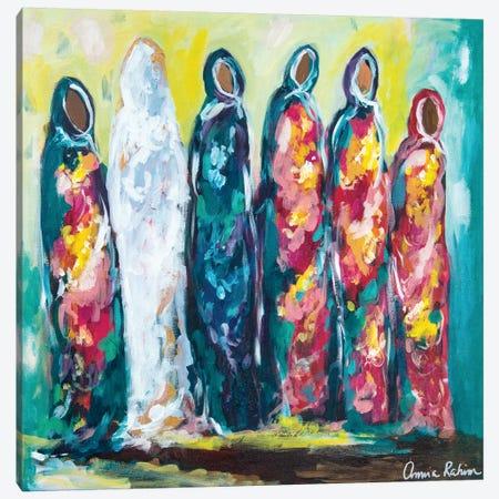 The Wedding Canvas Print #AMI1} by Amira Rahim Canvas Wall Art